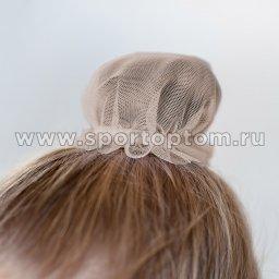 Сеточка для волос INDIGO SM-329 9 см Бежевый