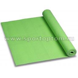 Коврик для йоги и фитнеса INDIGO PVC YG05 173*61*0,5 см Зеленый