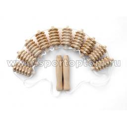 Массажер деревянный ленточный зубчатый 10 рядов МА3223