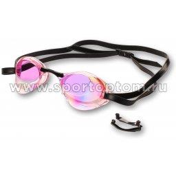 Очки для плавания INDIGO RATA зеркальные стартовый сменная переносица 2555-5 Розовый