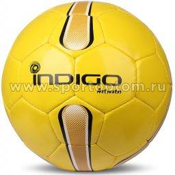 Мяч футбольный №5 INDIGO ACTIVATOR всепогодный  (PU прорезиненный) E00 Желтый