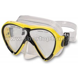 Маска для плавания  INDIGO BAAS  взрослая IN057 Желтый