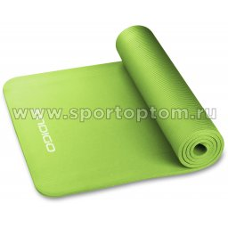 Коврик для йоги и фитнеса INDIGO NBR IN104 173*61*1 см Зеленый
