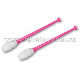 Булавы для художественной гимнастики вставляющиеся INDIGO IN017 36 см Розово-белый