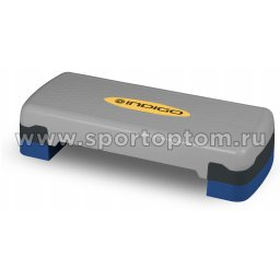 Степ платформа для аэробики 2 уровня INDIGO IN171 68*28*10/15 см Серо-синий