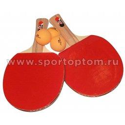 Набор для настольного тенниса JOEREX 2 звезды (2 ракетки, 3 шарика) 26128 ТВ