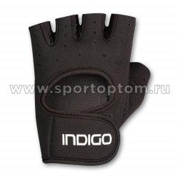Перчатки для фитнеса женские INDIGO неопрен IN200 S Черный