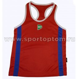 Майка боксёрская Green Hill KIDS полиэстер  BVK-3648 Красный
