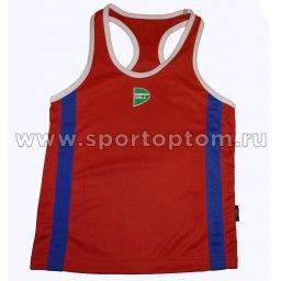 Майка боксёрская Green Hill KIDS полиэстер  BVK-3648 Красный