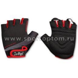 Перчатки вело мужские INDIGO   SB-01-8203 Черно-красный