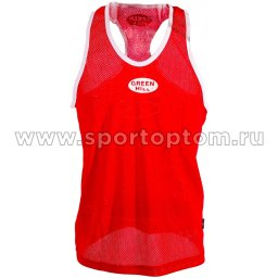 Майка боксёрская Green Hill CLUB полиэстер  BVC-6310 Красный