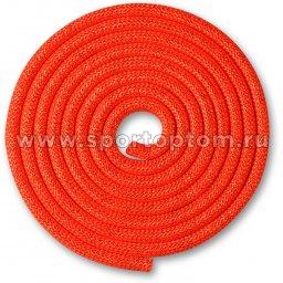 Скакалка для художественной гимнастики Утяжеленная 180 г INDIGO Люрекс SM-124 3 м Коралловый-люрекс