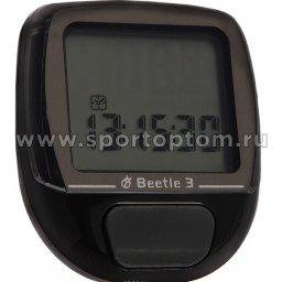 Велокомпьютер 10 функций BEETLE-3      Черный