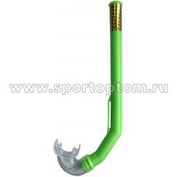 Трубка для плавания детская (с загубником, маскодержатель) 301 Зеленый