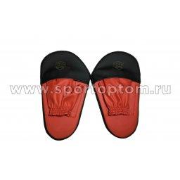 Лапа боксерская прямая большая RSC COMBAT и/к(пара) RSC009 34*19*4 см Красно-черный