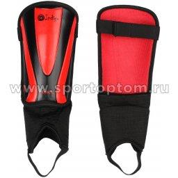 Щитки футбольные INDIGO  с защитой щиколотки 1504 Черно-красный