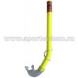 Трубка для плавания детская (с загубником, маскодержатель) 3102 (H062) Желтый