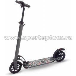 Самокат взрослый INDIGO CITY до 100 кг, колеса 200 мм IN051 Серый