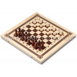 Игра 2 в 1 деревянная (шашки, шахматы)  IG-03