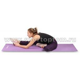 Коврик для йоги и фитнеса INDIGO PVC с рисунком Цветы YG03P Цикламеновый (5)