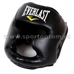 Шлем боксерский закрытый ММА EVERLAST Martial Arts PU  7420 L-XL Черный