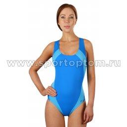 Купальник для плавания SHEPA слитный женский со вставками 009 Сине-голубой
