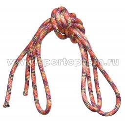 Скакалка для художественной гимнастики Утяжеленная 150 г INDIGO SM-122 2.5 м ЛЮРЕКС
