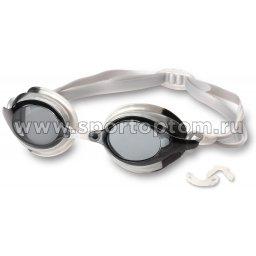 Очки для плавания детские INDIGO RUFF сменная переносица  10130-2 Серый