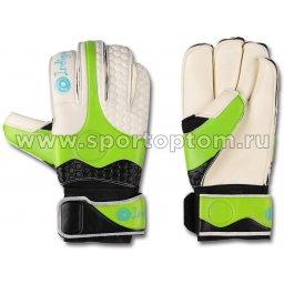 Перчатки вратарские INDIGO  200002 Бело-салатово-черный