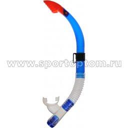Трубка  для плавания  INDIGO (силикон. загубник волнорез, клапан)  0943 SI