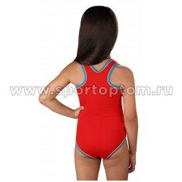 Купальник для плавания совместный детский SHEPA 001 Красный (2)