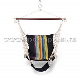 Гамак-Кресло INDIGO тканевый с подножкой IN185 100*60см Радуга