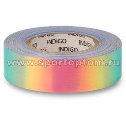 Обмотка для обруча с подкладкой INDIGO зеркальная RAINBOW сине-фиолетовый (1)