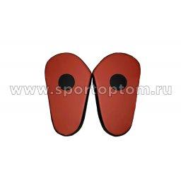 Лапа боксерская прямая большая КЫС и.к.COMBAT черно красный(2)