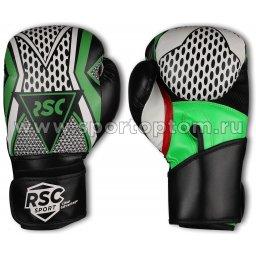 Перчатки боксёрские RSC  PU   3613 RSC 10 унций Серо-зеленый