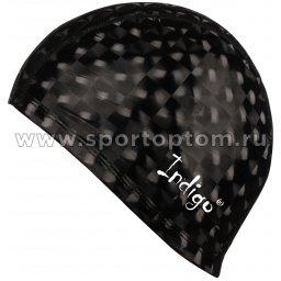 Шапочка для плавания  ткань прорезиненная с эффектом 3D INDIGO IN047 Черный