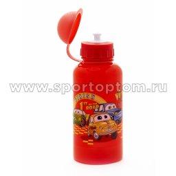 Вело Фляга детская с защитой от пыли Машинки  03 VSB 500 мл Красный
