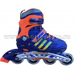 Роликовые коньки раздвижные SWAN TE-991F 38-41 Оранжево-синий