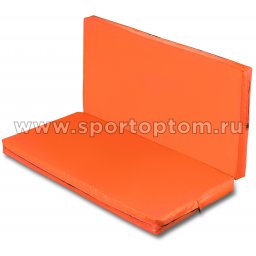 Мат гимнастический складной SM-108  Оранжевый