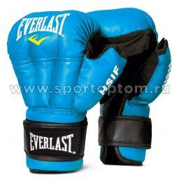 Перчатки для рукопашного боя EVERLAST HSIF PU   RF3208 8 унций Синий