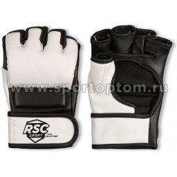 Перчатки ММА RSC PU  BF-MM-4006 Бело-черный
