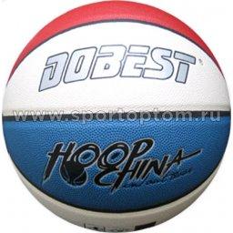 Мяч баскетбольный №7 DOBEST (PU) 885 PK  Сине-красно-белый