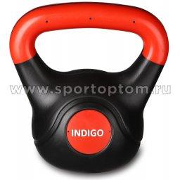 Гиря пластиковая INDIGO IN041 Черно-красный 2 кг (2)