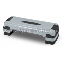 Степ платформа для аэробики 3 уровня INDIGO IN169 80*31*10/15/20 см Серо-черный