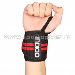 Напульсник для тяжёлой атлетики Правый IN202-R Универсальный Черно-красный