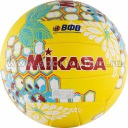 Мяч волейбольный MIKASA пляжный машинная сшивка VXS- HS 3 Желто-зеленый