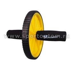Ролик гимнастический 1 колесо  JOEREX неопреновые ручки 7896                      Черно-желтый