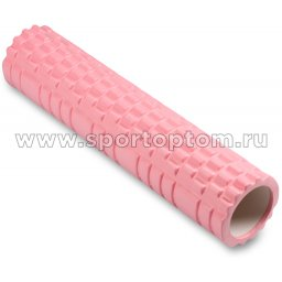 Ролик массажный для йоги INDIGO PVC  IN187 61*14 см Розовый