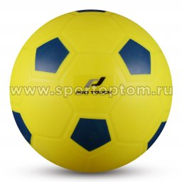 Мяч резиновый детский INDIGO Футбол  IN120 15 см Желто-Синий