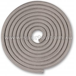 Скакалка для художественной гимнастики Утяжеленная 180 г INDIGO SM-123 3 м Серебряный